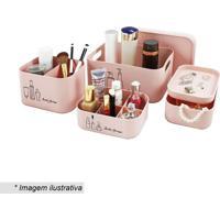 Kit De Organizadores Beauty- Rosa Claro- 4Pã§S- Jjacki Design