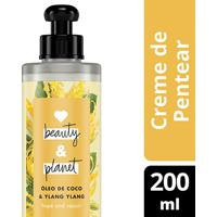 Creme Para Pentear Hope And Repair Óleo De Coco & Ylang Ylang Love Beauty And Planet 200Ml - Feminino-Incolor