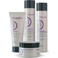 Kit Violeta Duetto 1 Shampoo 300Ml + 1 Cond 300Ml+ 1 Máscara 280G+ 1 Leave-In 200Ml - Unissex-Incolor