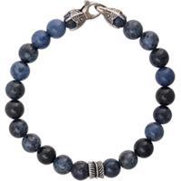 Nialaya Jewelry Pulseira Redonda De Contas - Azul