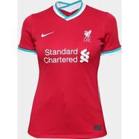 Camisa Liverpool Home 20/21 S/N° Torcedor Nike Feminina - Feminino