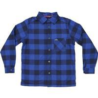 Camisa Xadrez Com Bolso- Azul & Azul Escuro- Lacostelacoste