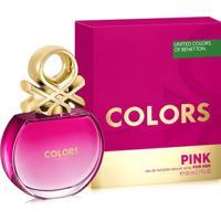 Perfume Feminino Colors Pink Benetton Eau De Toilette 80Ml - Feminino-Incolor