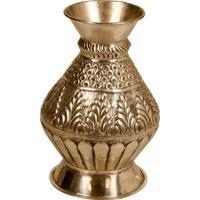 Vaso Decorativo De Metal Alpaca Nesh