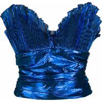 The Attico Blusa Tomara Que Caia - Azul