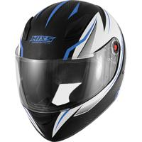 Capacete Mixs Fokker Carbon X Fosco Abs Natural Azul
