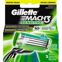 Carga Gillette Mach3 Sensitive 2 Unidades