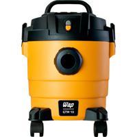 Aspirador De Pó E Água Wap Gtw 10, 1400W, 10L, Preto/Amarelo - 110V