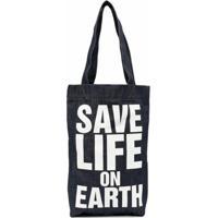 Katharine Hamnett London Save Life On Earth Tote Bag - Azul