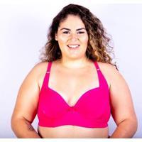 Sutiã Bojo Plus Size Gatria Reforçado Feminino - Feminino-Pink