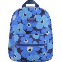 Mochila Estampara- Azul & Azul Escuro- 38X29,5X12,5Cjacki Design