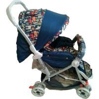 Carrinho De Bebê Color Baby Passeio Junior Azul