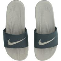 Chinelo Nike Kawa - Slide - Masculino - Marrom Cla/Verde Esc