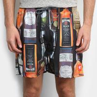 Short Kevland Whisky Masculino - Masculino-Preto