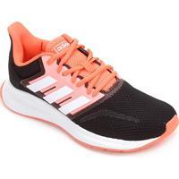 Tênis Adidas Run Falcon Feminino - Feminino-Preto+Laranja
