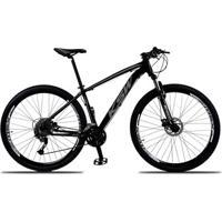 Bicicleta Aro 29 Ksw Xlt 27V Câmbios Shimano Alívio M4000 Freio A Disco Hidráulico Com Trava - Unissex