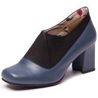 Sapato Azul Em Couro - Petroleo / Flex Preto 6013 Mzq