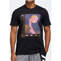 Camiseta Adidas Layup Craze Masculina Preto