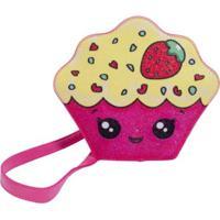 Bolsa Infantil Princesa Pink Bolsa Cupcake C/ Glitter Multicolorido
