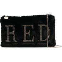 Red Valentino Bolsa Tiracolo Com Aplicação De Logo - Preto