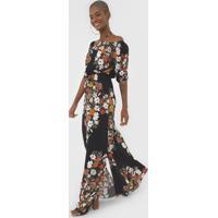 Vestido Ciganinha Dress To Longo Buque Preto