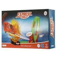Pista De Corrida Single Loop 360º Express Wheels Com 1 Carrinho E 12 Peças Indicado Para +5 Anos Multikids - Br1017 Br1017