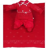 Saída De Maternidade Beth Bebê Maria Alice Tricô Vermelho