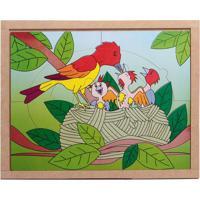 Conjunto De Quebra-Cabeças Animais & Filhotes Pássaro- Bcarlu