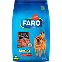 Ração Para Cães Faro Macio Filhotes E Adultos Sabor Carne 900G