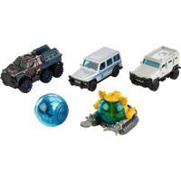Carrinhos - Jurassic World 2 - Pack Com 5 Carrinhos - Mattel