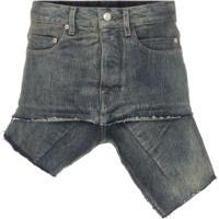 Rick Owens Minissaia Jeans Assimétrica - Preto