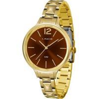 Relógio Feminino Lince Casual Lrgh066L M2Kx - Unissex-Dourado