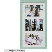 Painel Multifotos Insta- Verde Claro & Branco- 38X21Kapos