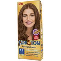 Coloração Creme Cor E Ton 7.7 Marrom Dourado Niely