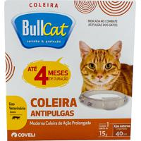 Coleira Antipulgas Bullcat Para Gatos 15G Até 4 Meses De Duração 1 Unidade