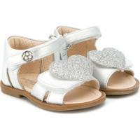 Florens Glitter Heart Sandals - Cinza