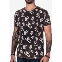 Camiseta Hibiscos Marmorizada 102155