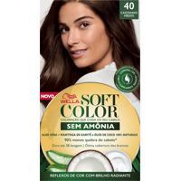 Tintura Soft Color Sem Amônia Castanho Médio 40 Kit