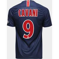 Camisa Paris Saint-Germain Home 18/19 Nº 9 Cavani Torcedor Nike Masculina - Masculino