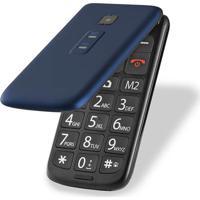 Celular Flip Vita Dual Chip Mp3 Azul Multilaser - P9020 - Padrão