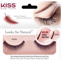 Cílios First Kiss Looks So Natural Pretty Kfl03Br - Feminino-Incolor
