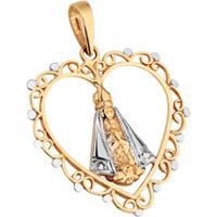 ae9ea8508550f ... Pingente Nossa Senhora De Aparecida Com Coração Em Ouro 18K -  Unissex-Ouro