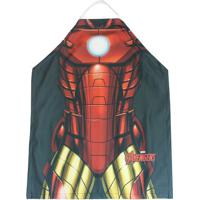 Avental Iron Manâ®- Vermelho & Dourado- 70X60Cm- Zona Criativa