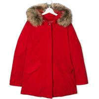 Woolrich Kids Teen Hooded Down Coat - Vermelho