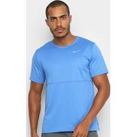 Camiseta Nike Breathe Run To Masculina - Masculino-Azul