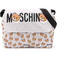 Moschino Kids Bolsa Maternidade Com Estampa Teddybear - Cinza