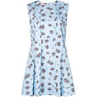 Marni Blusa Floral Com Peplum - Azul