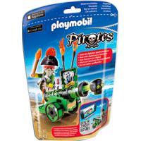 Playmobil - Soft Bags Pirates - Pirata E Canhão - 6162 - Sunny - Masculino-Incolor