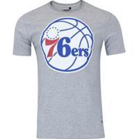 Camiseta Nba Philadelphia 76Ers Big Logo - Masculina - Cinza