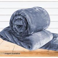 Cobertor Super Soft Queen Size- Azul- 220X240Cm-Sultan